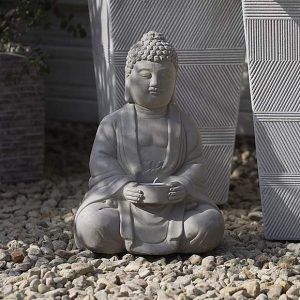 Grey Buddha Tealight Holder