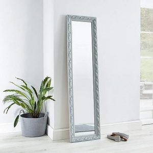 Decorative Leaner Mirror 166x45cm Grey