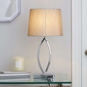 Como Table Lamp Chrome Shade