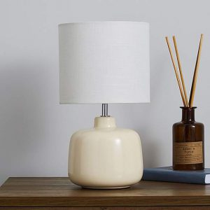 Oslo Ceramic Cream Table Lamp