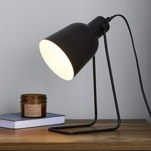 Sivas Leaning Wire Black Task Desk Lamp